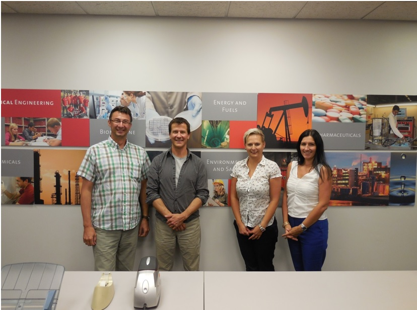 photos from the visit of the project partners at the University of Utah co2trip